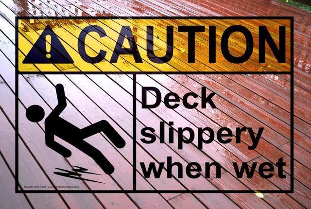 slippery no slip decking